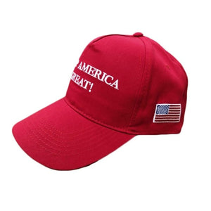 2020 Donald Trump Red Black Hat Re-Election Keep America Great Embroidery USA Flag