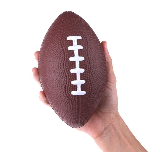 Mini Soft Standard PU Foam American Football Soccer Rugby Squeeze Ball