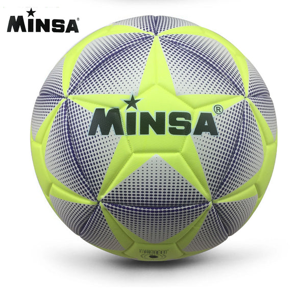New Brand MINSA High Quality A++ Standard Soccer Ball PU Soccer Ball