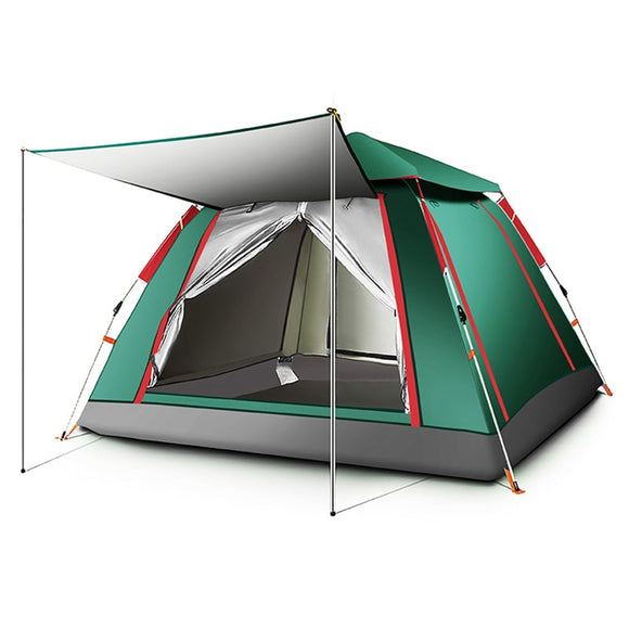 3-4 Person Automatic Tents Waterproof Camping Hiking Tent