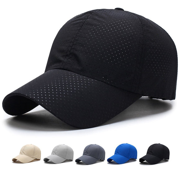 1pcs Baseball Cap Hat Portable Running Sun Breathable Golf Hiking Solid Mesh Camping Tennis Summer Unisex Dry Quick Thin