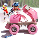 Adjustable Size Children Roller Skates Double Row 4 Wheels Skating Shoes