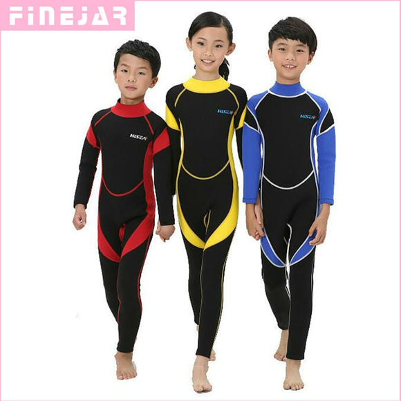 2.5MM Neoprene Wetsuits Kids Swimwears Diving Suits Long Sleeves Boys Girls Surfing