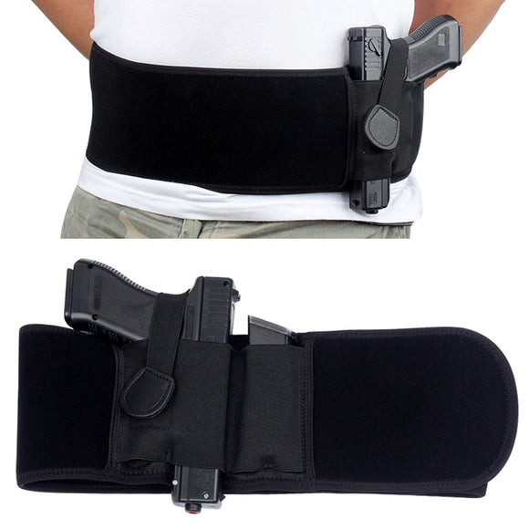Tactical Belly Band Concealed Carry Gun Holster Right-hand Pistol