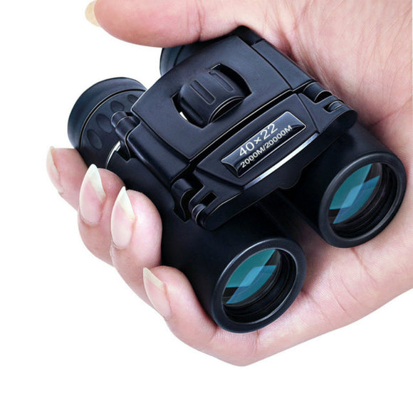 40x22 HD Powerful Binoculars 2000M Long Range Folding Mini Telescope