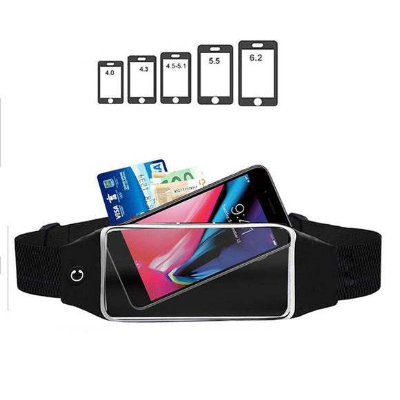Women Men Waist bag Sport Waist Bag Screen Touching Waterproof   Mobile Phone Holder Running Belt Waist Pack