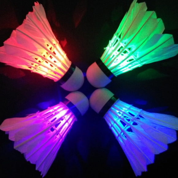 Lighting Badminton shuttlecock Dark Night Colorful LED Lighting Sport Badminton Ball Accessories Light Spot Shuttle cock