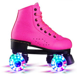4-Color Artificial Leather Double-Row Roller Skates