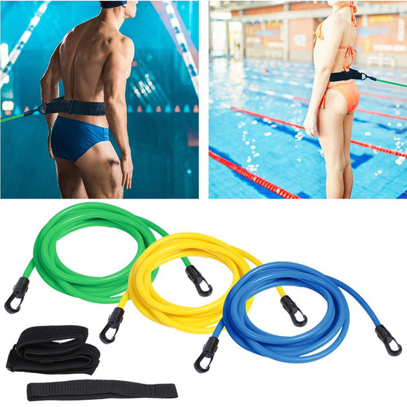 2/3/4M Adjustable Harness Swim Training Resistance Belt Safety Rope Swimming Pool Tool