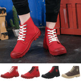 Couple Canvas High Shoes Breathable Wild Casual Shoes Non-Slip Autumn Shoes Man Women