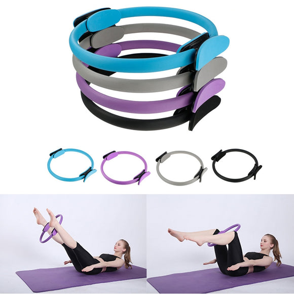 Yoga Circle Dual Grip Yoga Pilates Ring Body Building Resistance Fitness Circle Gym Workout Pilates Lose Weight Equipment