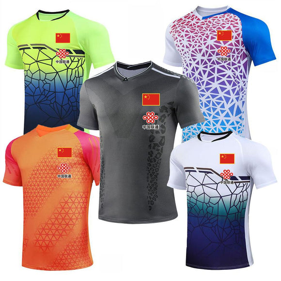 2020 CHINA Flag Badminton shirts For Men Women , Girl Tennis T-Shirts ,