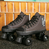 New Style Patines Adult Double-Row Roller Skates Four-Sheel  Adult Men Women Outdoor Roller Shoes
