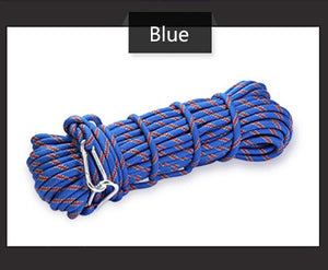 polyester Professional Rock 10M Climbing Rope Outdoor Hiking Accessories 10mm Diameter 3KN High Strength Cord Safety Rope