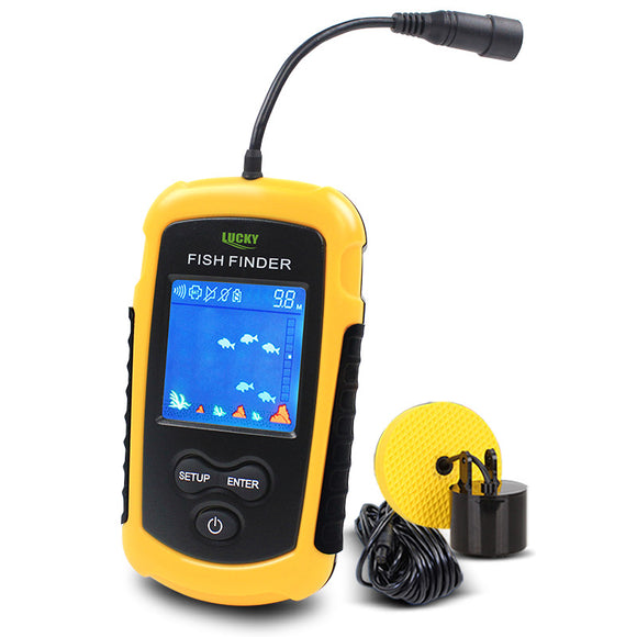 LUCKY FFC1108-1 100M Portable Sonar LCD Fish Finders Fishing Tools Echo Sounder Fishing Finder Colorful Screen