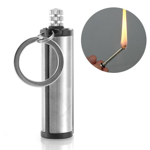 Steel Fire Starter Flint Outdoor Hiking Survival Tools Camping Instant Emergency Gear Tool Match Lighter Keychain Outdoor