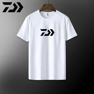 Daiwa Fishing Clothing Men Sport T Shirt Cotton Breathable Fishing Shirt Short Sleeve T-shirts Outdoor Casual Top Fishing Tshirt