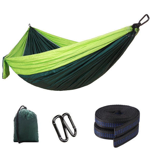 Camping Hammock Lightweight Nylon Parachute Fabric Portable Cot Bed Hanging Bed