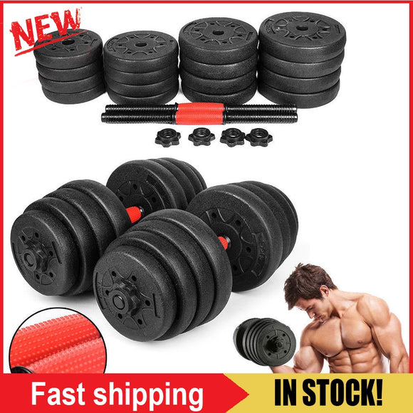 2pcs Weight Dumbbell Set Gym Barbell Plates Rubber-Coated Dumbbells Strength Fitness Equipment 30kg Solid Dumbbell Weight Set