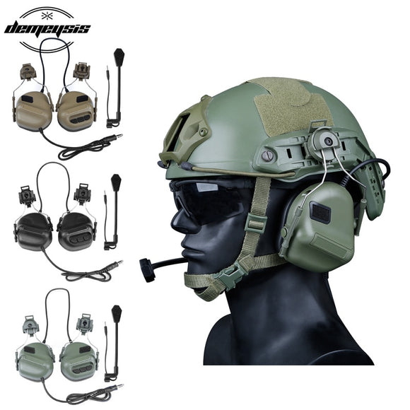 High Quality Army Tactical Hunting Shooting Headsets Military Helmet Airsoft Paintball Headset