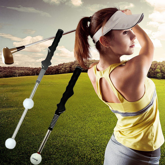 Portable Anti-slip Golf Practice Training Aid Swing Trainer Durable Golf Telescopic Swing Rod