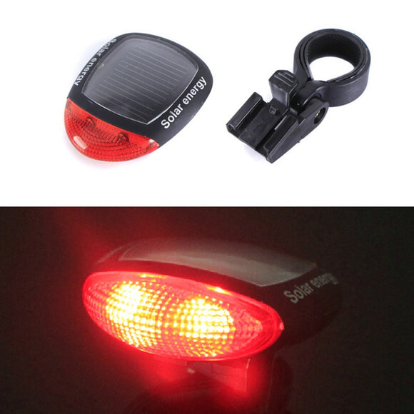 Bicycle Lights 2019 Bike Solar Energy LED Tail Light Night Safety Cycling Rear Lamp With Installing Mount Bicycle Accessories
