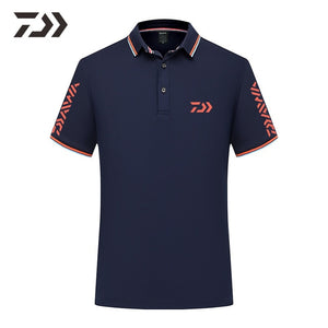 2020 New Daiwa Clothing Fishing T Shirts Men for Summer Polo Shirts Fishing Jackets Breathable Patchwork Fishing Clothes Men Top