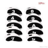 9/10/12Pcs Portable PU Golf Club Iron Head Covers Protector