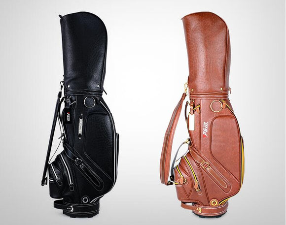 High quality!PGM 2017 Golf Bags Men Multifunctional Standard Golf Caddy Bag Large Capacity Custom Leather Golf Bag
