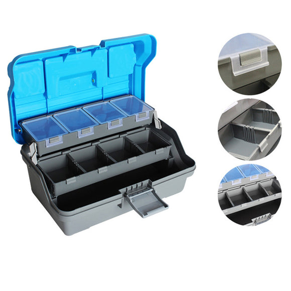 32*16*15cm 3 Layer Big Fishing Lure Tackle Box Handle Plastic Fishing Tool Case Fishing Tackle Box Pesca Carp Fishing