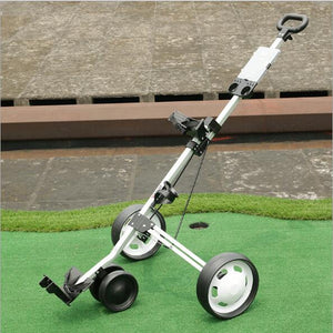 Three-wheeled Aluminum alloy Golf Trolley Folding Golf cart Golf charter with scorecard