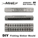 Adygil DIY Fishing Ball Sinker Mould ADBASM/#0 Ball Sinker 5g 10 Cavities