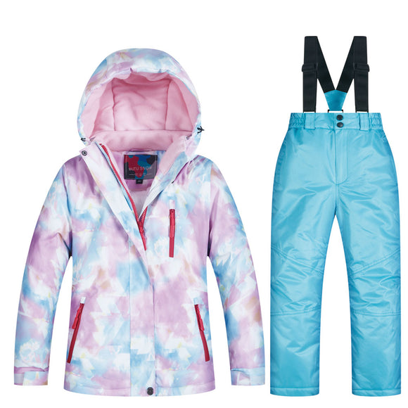2019 New Kids Ski Suit Windproof Waterproof Warm Girls Snow Set