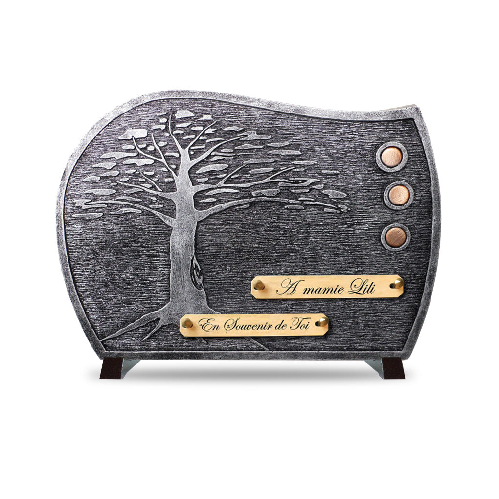 Plaque contemporaine arbre argent