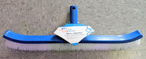 "Pool Brush 18"" Plastic Blue/White (Pool Style Deluxe)"