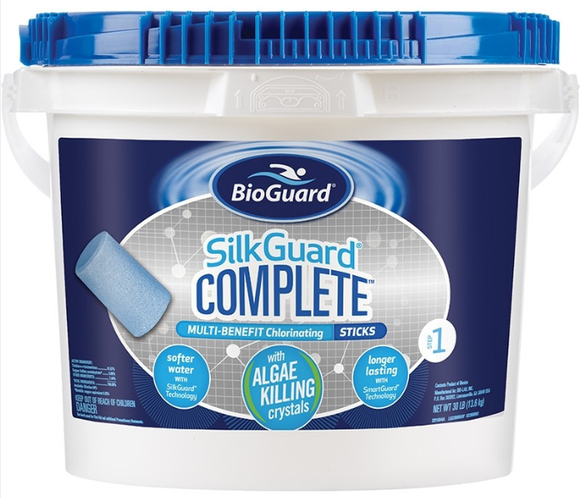BioGuard SILKGUARD® COMPLETE™ MULTI-BENEFIT CHLORINATING STICKS (30 LB)
