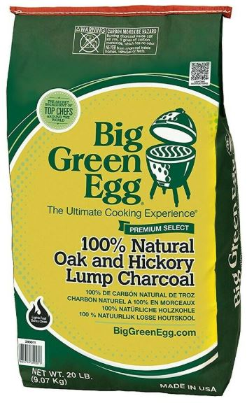 Big Green Egg Premium Organic Lump Charcoal