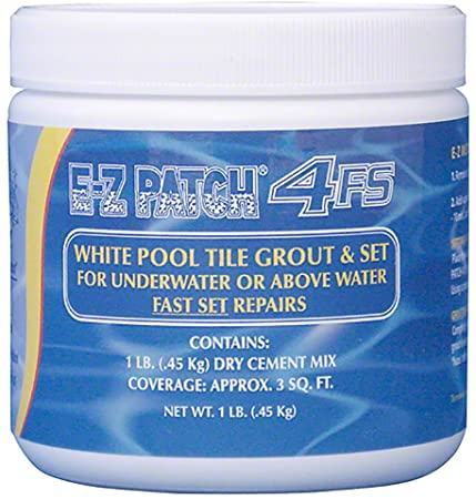 E-Z Patch 4FS White Pool Tile Grout & Fast Thinset Repair