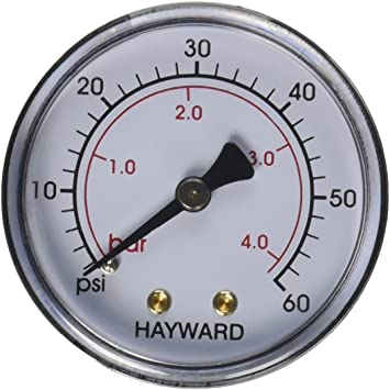Hayward Back Mount Pressure Gauge