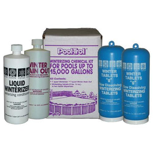 Pool Trol Winterizing Chemical Kit for Above Ground Pools (Treats 15,000 Gallons)