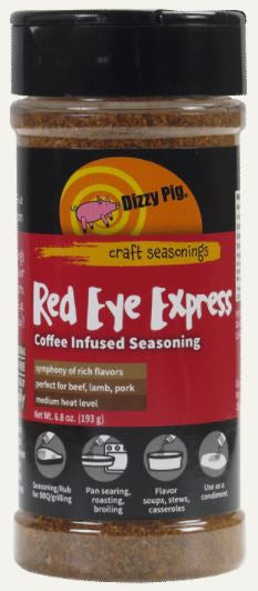 Dizzy Pig Red Eye Express Seasoning (8 OZ Shaker Bottle)