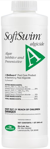 BioGuard SOFTSWIM A Algicide (1 Quart) (BIGUANIDE POOLS ONLY)
