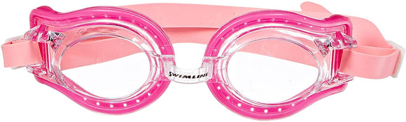 Swim Goggles Jelly Type (Youth/Adult) with Case (Pink)