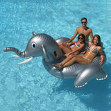 Giant Ride-On Inflatable Elephant