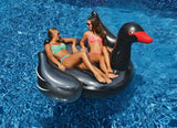 Giant Ride-On Inflatable Black Swan