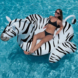 Giant Ride-On Inflatable Zebra