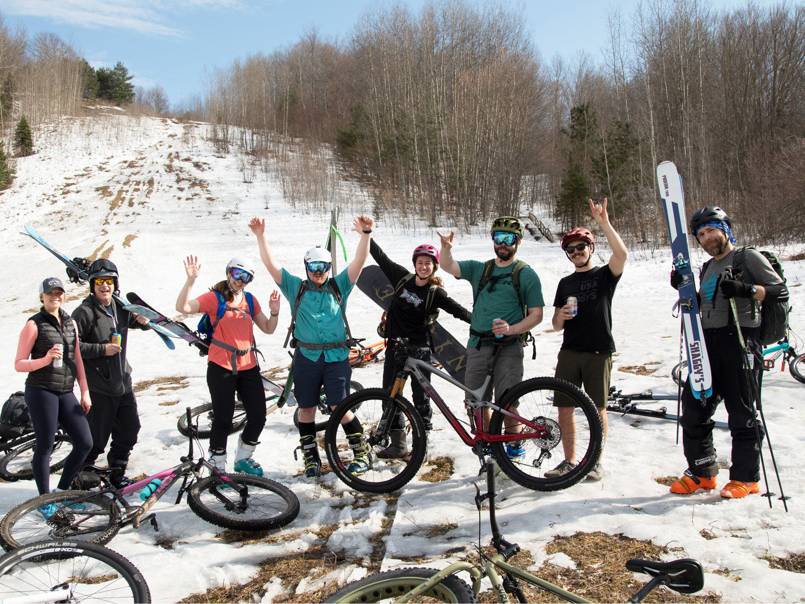 Video: Last Strip of Winter - Spring Skiing + Biking