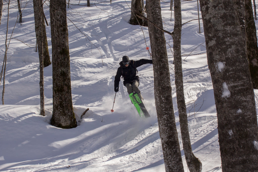 Collin Rehm on the Bootjack 115 - Ahmeek 115 - Powder Skis - All Mountain Skis