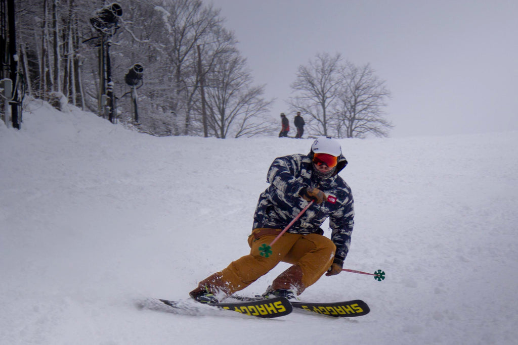 Jeff carving at Boyne Mountain Ski Area