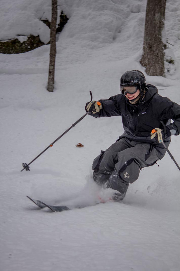 Logan Stanley Skiing Powder in Michigan at Mount Bohemia